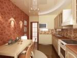 Дизайн интерьера кухни-столовой