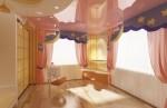 Детская спальная комната для девочки в 2-х этажном коттедже с мансардой