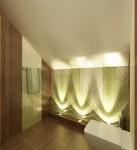 Сан.узел в мансарде в 2-х этажном коттедже с мансардой