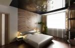 Спальня 2-го этажа с применением обоев Marburg немецкого производства в 2-х этажном коттедже с мансардой