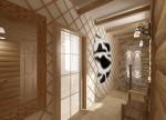 Дизайн-проект тамбура в 2-х этажном коттедже с мансардой