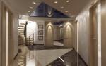 Холл цокольного этажа в 2-х этажном коттедже с мансардой