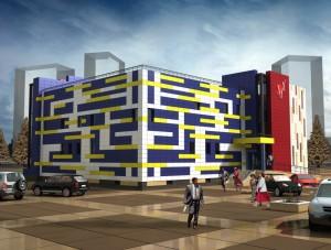 Архитектурный проект торгового центра в городе Тарко-Сале