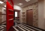 Дизайн интерьеров коттеджа с мансардой. Прихожая