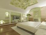 Дизайн интерьеров коттеджа с мансардой. Спальня, вариант 2