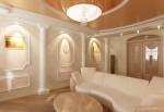 Гостиная в классическом стиле. Декоративные колонны и полуколонны в интерьере