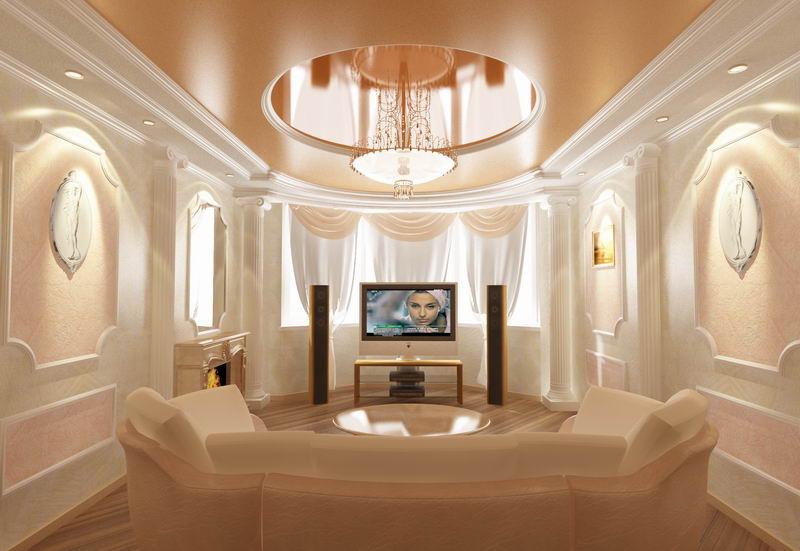 Дизайн интерьеров потолки 53