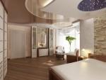 Дизайн спальни в коттедже. Вариант 2