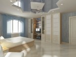 Дизайн спальни в коттедже