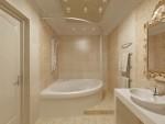 Квартира в светлых пастельных тонах. Дизайн интерьера ванной с джакузи