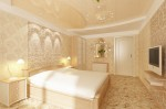 Квартира в светлых пастельных тонах. Дизайн интерьера спальни