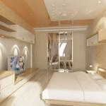 Дизайн спальни в 3-х комнатной квартире. Вариант 2