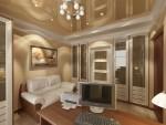 Кабинет в лёгком классическом стиле. 6-ти комнатная квартира в Екатеринбурге