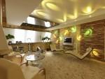 Спортивная комната отдыха с камином в 6-ти комнатной квартире в Екатеринбурге