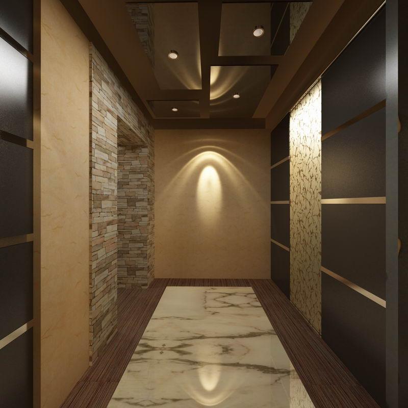 нас натяжной потолок в узкой прихожей дизайн фото оно