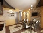 Кухня-столовая в мансардном этаже 6-ти комнатной квартиры