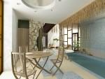 Дизайн бассейна с сауной в 2х этажном коттедже