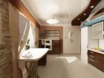 Дизайн кухни в 2х этажном коттедже