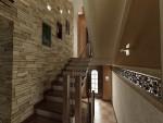 Дизайн лестницы в 2х этажном коттедже