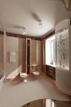 Дизайн ванной в 2х этажном коттедже
