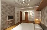 Спальная комната в 4-х комнатной квартире