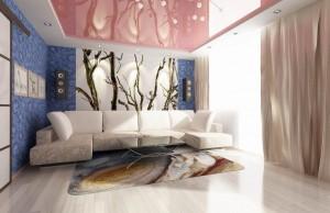 Дизайн-проект гостиной в многокомнатной квартире находящейся в Екатеринбурге, район парк хауса