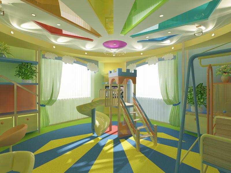 Дизайн детской комнаты игровой