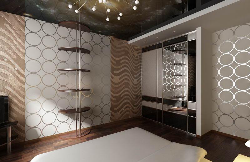 Дизайн интерьера спальной в коттедже