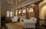 Дизайн гостиной с камином. Вариант 2. Классические интерьеры