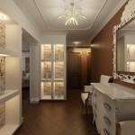 Интерьер квартиры в современной классике. Прихожая