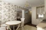 Интерьер квартиры в современной классике. Кухня, столовая