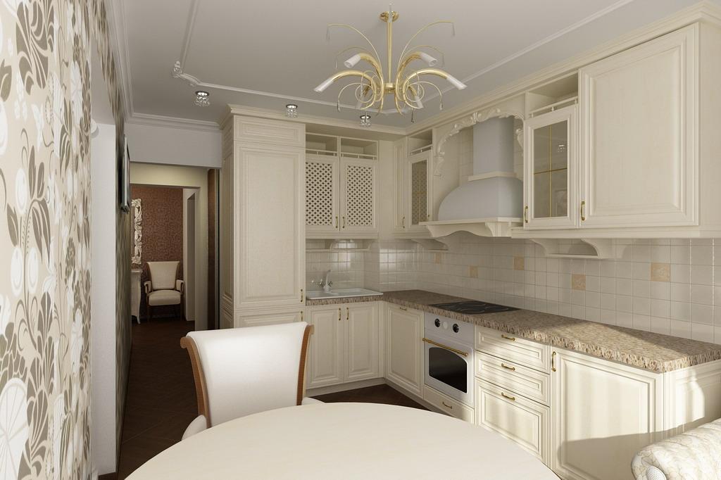 Кухня интерьер дизайн классика фото в квартире