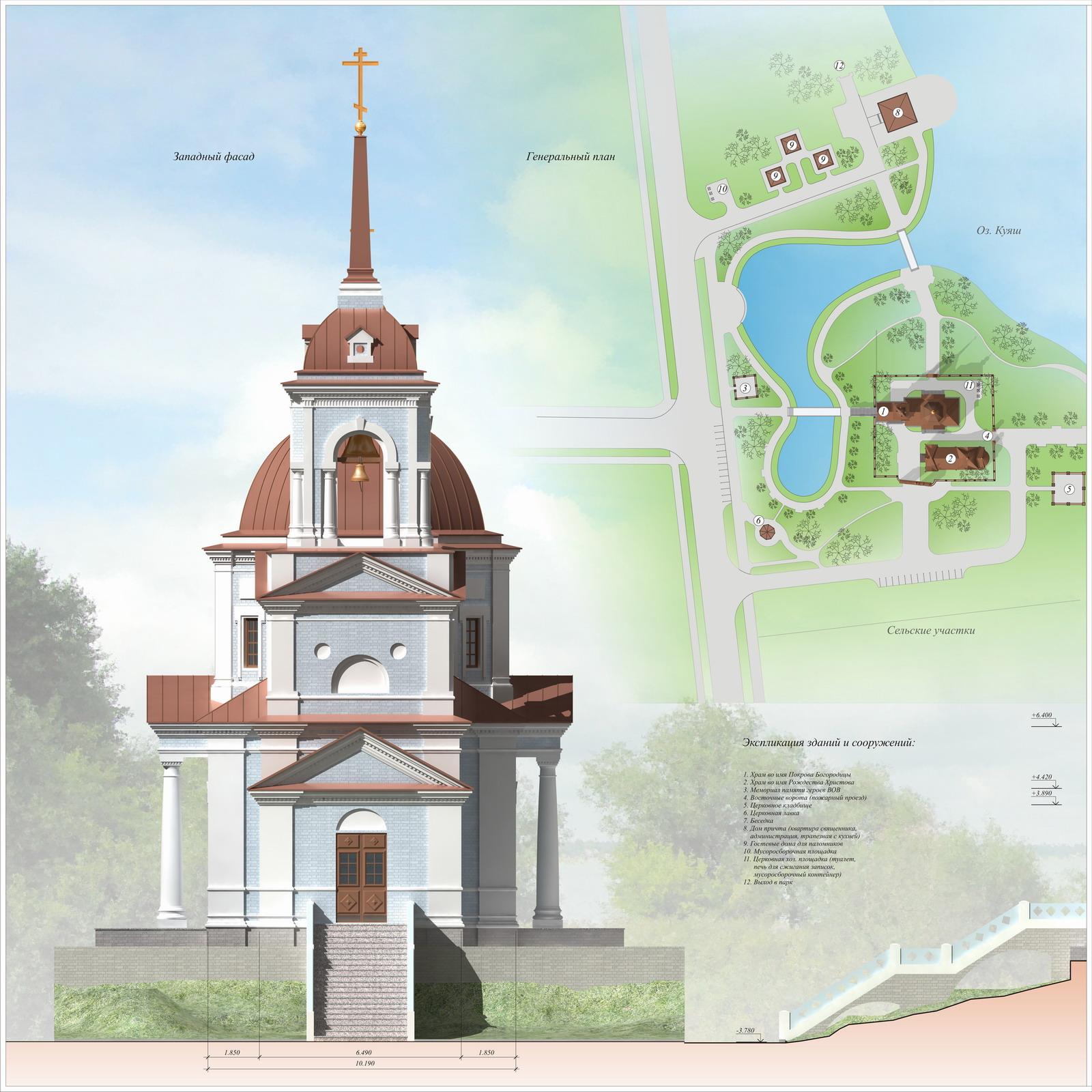 Проект реставрации церкви Покрова Богородицы в селе Большой Куяш