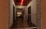 Дизайн интерьера холла второго этажа в коттедже с мансардой