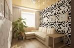 Дизайн интерьера спальни в номере коттеджа для отдыха