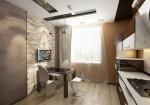 Дизайн интерьера кухни-столовой в однокомнатной квартире