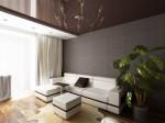 Дизайн интерьера гостиной в однокомнатной квартире