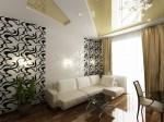 Дизайн интерьера гостиной в 3-х комнатной квартире. Вариант 2