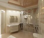 Дизайн интерьера ванной в 3-х комнатной квартире. Вариант 1