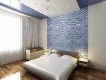 Дизайн интерьера спальни в 3-х комнатной квартире. Вариант 1