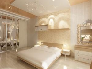 Дизайн интерьера спальни в 3-х комнатной квартире. Вариант 2