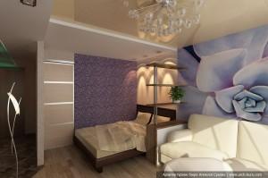 Дизайн гостиной в однокомнатной квартире