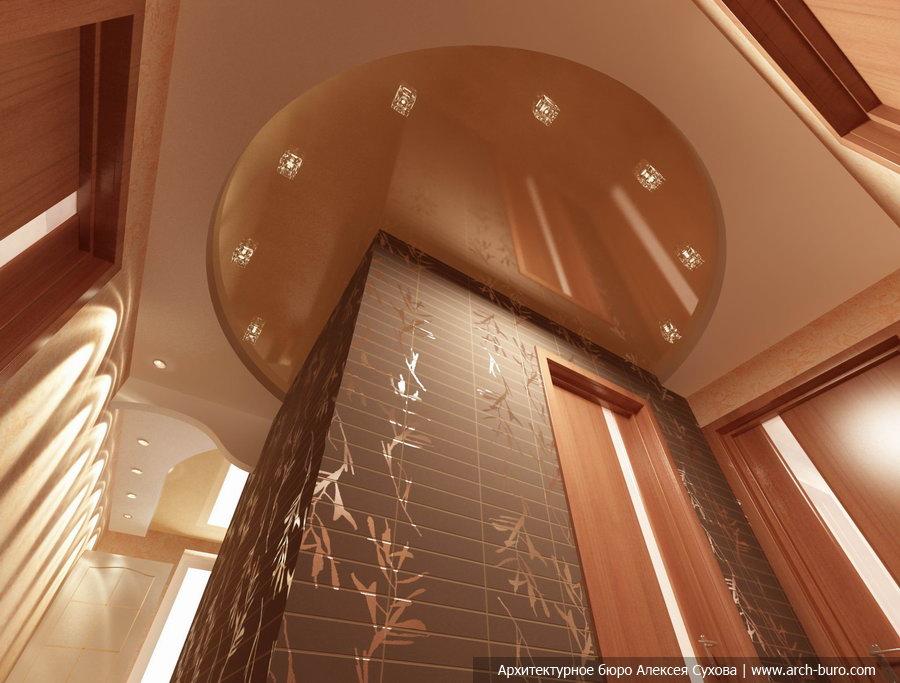 навесной потолок в коридор фото конфетки
