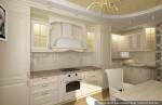 Дизайн-проект кухни в классическом стиле. Вариант 1