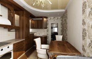 Дизайн-проект кухни в классическом стиле. Вариант 2