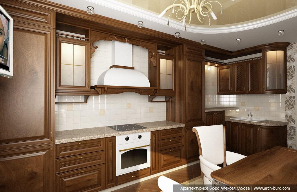 Классический стиль дизайн кухни фото