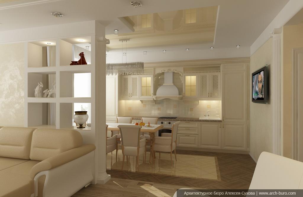 Интерьер: дизайн гостиной совмещенной с кухней Современные дизайны квартиры кухня и гостиная