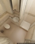 Дизайн квартиры. Гостевой сан. узел. Вариант 1