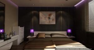Дизайн квартиры в современном стиле. Спальня