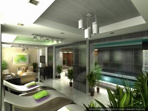 Дизайн бассейна в коттедже. Посёлок Растущий, Екатеринбург